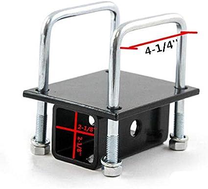 7BLACKSMITHS RV 2 Square Bumper Hitch 4 Mount RV Bumper Bike Cargo Carrier Receiver Adapter Mount on RV Travel Trailer