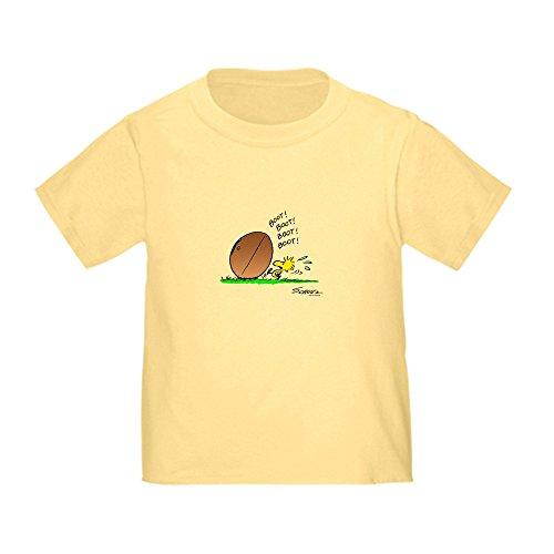 (CafePress Woodstock Kicker Cute Toddler T-Shirt, 100% Cotton Daffodil Yellow)