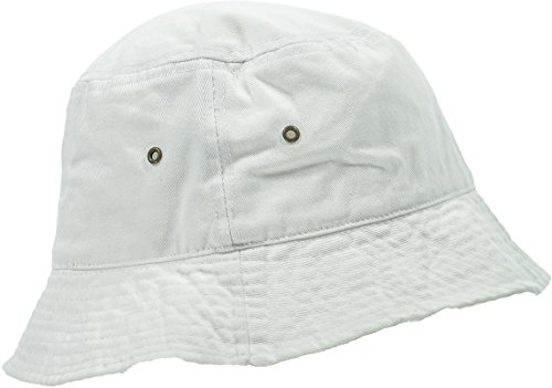 Ladies Bucket Hat - Hand By Hand Aprileo Women's Bucket Hat Floral Solid Camo Cotton Washed Summer [White.](Small/Medium)