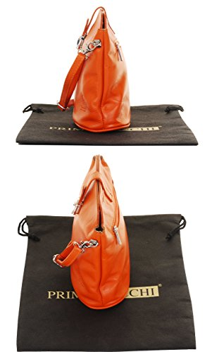 or Sacchi Cross Body Made Bag Primo Handbag Strap Orange Leather Hand Italian Shoulder Adjustable Udd8wzRq