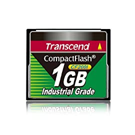 Transcend 1GB Industrial Cf Card 200X (TS1GCF200I) 1 Transcend 1GB Industrial Cf Card 200X (TS1GCF200I) Non-volatile solid-state Works with any CompactFlash enabled device compatible with 1gb CF cards
