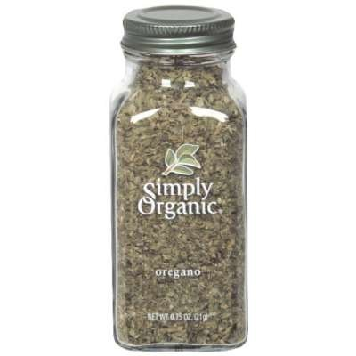 Simply Organic Oregano Leaf Cut & Sifted Certified Organic .75-Ounce Container (Pack of 3)