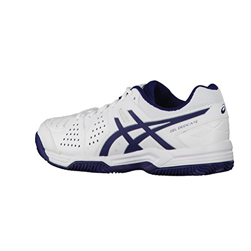 Asics - Geldedicate 4 Clay 0143 - Color: Blanco White/Navy/Silver