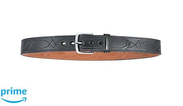 "Bianchi B12 Fancy Stitched Gun Dress Belt 1.5/"" Width Tan Finish Brass Buckle 34/"""