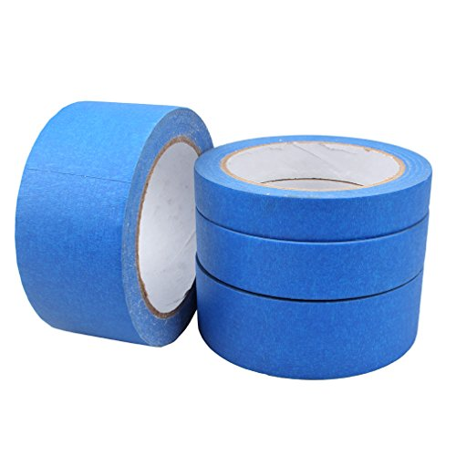 FASOTY Premium Blue Painters Tape, Multi-Use Clean and Easy Removal, 4 Width (48mm, 36mm, 24mm, 18mm), Total Length: 131-Yard, Value Pack of ()
