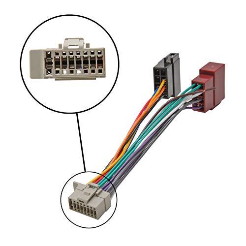 Inex ISO Wiring Adaptor Harness Stereo Radio Connector Cable Loom Panasonic Pin: