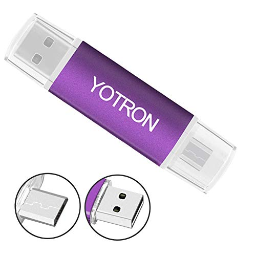 USB Memory Sticks For Computers Android Flash Drive 32 GB USB Flash Drives Metal USB Thumb Drives Colorful USB Stick Pen Drive 32 GB Water&Shcok Resistant Frosted Purple By YOTRON by YOTRON