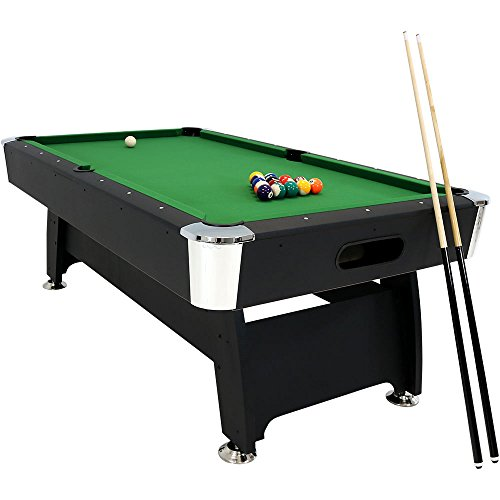 Sunnydaze 7-Foot Pool Table Billiard Game Set for Indoor Game Room, Includes Ball Return, Triangle, Balls, Cues, Chalk and Brush from Sunnydaze