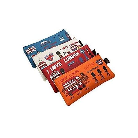 Canvas Pencil Case,The American Style I Love London Set of 4 41fPWdEjBEL