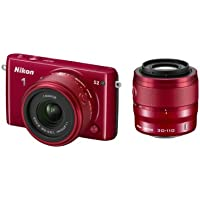 Nikon 1 S2 Digital Camera with 1 NIKKOR 11-27.5mm f/3.5-5.6 Lens and 30-110mm f/3.8-5.6 Lens (Red) Basic Intro Review Image