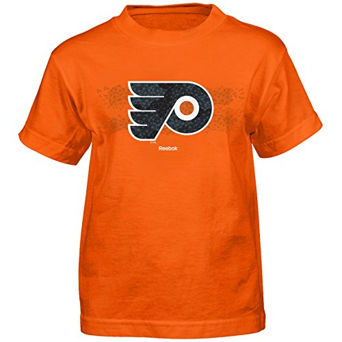 Outerstuff NHL Philadelphia Flyers Fractal Camo Short Sleeve Tee, Large/(7), Orange