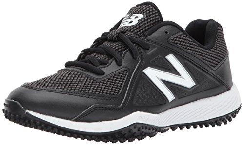 New Balance Boys' TY4040 Turf Baseball Shoe, Black/Black, 3.5 M US Big Kid