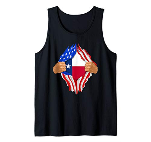 (Texas Roots Inside State Flag Art | American Proud Tee Tank Top)