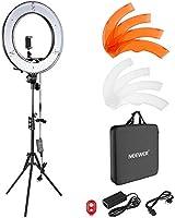 Neewer Caméra Photo Vidéo Eclairage Kit : 48cm Extérieur 52W 5500K Réglable LED Lumière Anneau, Trépied d'Eclairage,...