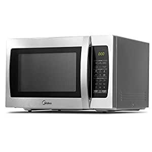 Midea 34L 1100W Electric Digital Solo Microwave Oven Countertop Benchtop Kitchen Express/Multi-Stage Cooking/Defrost/Reheat Silver