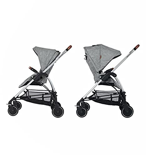 Bébé Confort Mya - Cochecito urbano, diseño compacto, sistema plegable, para bebes de 0 meses hasta 3,5 años, color gris