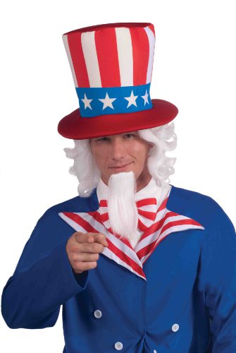 Forum Novelties Uncle Sam Wig and Beard Set, White, One Size