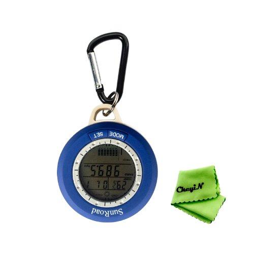 Ckeyin Multifunktions-6-in-1 Digital-Kompass mit Höhenmesser + Wetter + Barometer + Thermometer und mehr