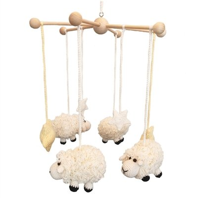 Handmade Sheep Baby Mobile by bebemoss