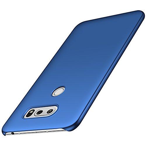 ORNARTO V30 Case for LG V30, LG V30s, LG V30 Plus,[Basic Series] Thin Fit Shell Premium Hard Plastic Matte Finish Non Slip Full Protective Anti-Scratch Cover Cases for LG V30/V30s/V30 Plus 6.0 Blue