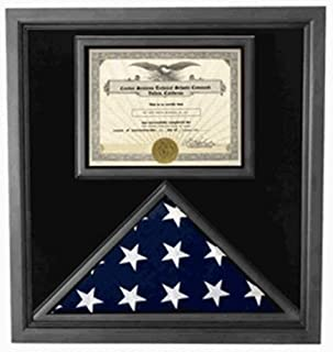 product image for Premium USA-Made Solid Wood Flag Document Case Black Finish.