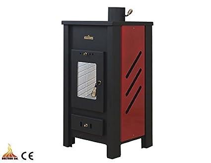 Estufa de leña con caldera calefacción Central de color madera/carbón de combustible sólido