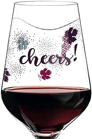 RITZENHOFF Red - Copa de vino tinto (cristal, 580 ml, con finas piezas de platino)