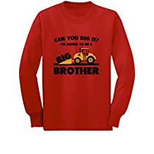 Going To Be Big Brother Tractor Loving Boys Gift Toddler Kid Long sleeve T-Shirt