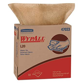 L20 Towels, Pop-Up Box, 2-Ply, 9 1/10 X 16 4/5, Brown, 88 ...