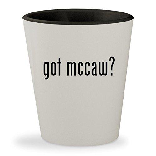 got mccaw? - White Outer & Black Inner Ceramic 1.5oz Shot Glass