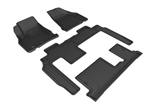 3D MAXpider Custom Fit Complete Floor Mat Set for Select Chevrolet Traverse Models – Kagu Rubber (Gray)