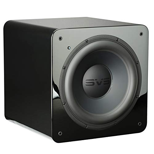 SVS SB-2000 Subwoofer (Piano Gloss Black) – 12-inch Driver, 500-Watts RMS, Sealed Cabinet