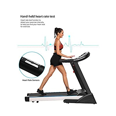 afferty Fitness Folding Electric Treadmill Exercise Equipment Walking Running Machine Gym Home(US STOCK)