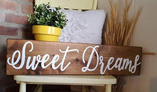 YYcharm Sweet Dreams Wood Sign ()