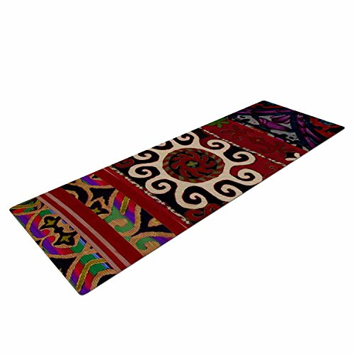 Kess InHouse S. Seema Z Yoga Exercise Mat, Burst of Diverse, 72″ x 24″ For Sale