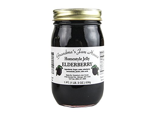 Homestyle Elderberry Jelly - One Pint - Grandma's Jam House