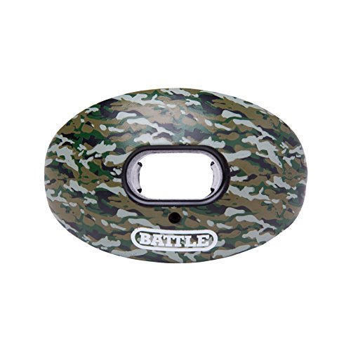 Battle Oxygen Lip Protector Mouthguard - Football and Sports Mouth Guard - Maximum Oxygen - Mouthpiece Fits With or Without Braces - Absorber Shield Protects Lips and Teeth, Limited Edition Camo Print