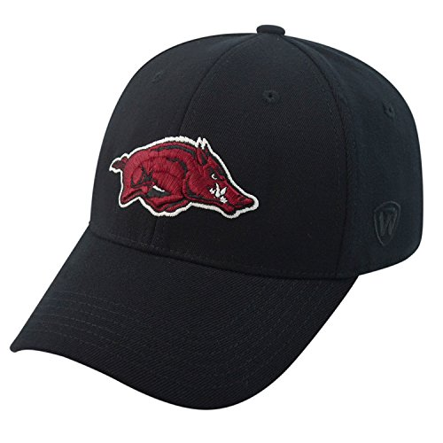 Arkansas Razorbacks Official NCAA One Fit One Fit Wool Hat Cap by Top of the World 262918 (Golf Arkansas State University)