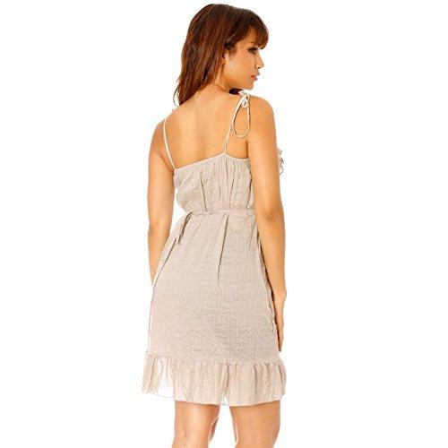 Miss Wear Line - Robe beige à bretelle avec bandeau élastique