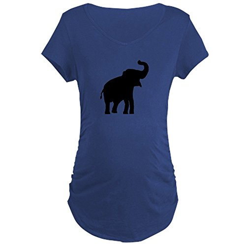 CafePress Elephant - Cotton Maternity T-Shirt, Side Ruched Scoop Neck by CafePress