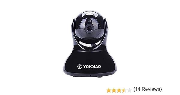 Videocámara de Vigilancia inalámbrica Yokkao®, Cámara IP de seguridad WIFI 720p HD 5x Zoom Digital H.264 Sensor de movimiento Visión Nocturna Control Remoto ...