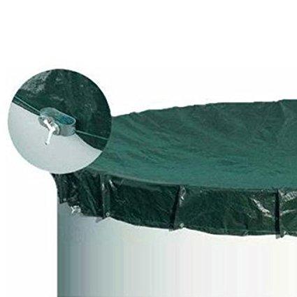 Poolabdeckung standard per circa Pool Ø 4,50 – 4,60 m – per tutto l' anno ESAB Deck per piscina rotonda da parete in acciaio inox – poolabdeckung 90 G M²