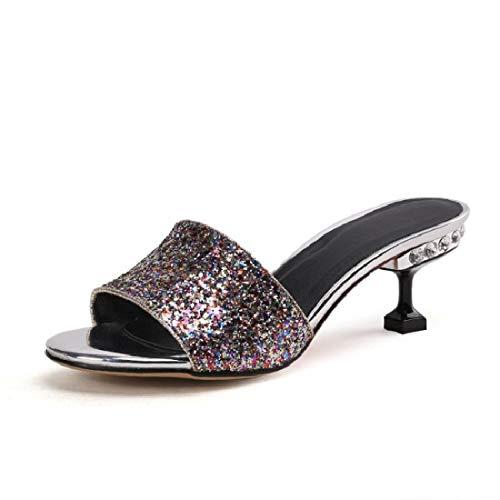 Verano lentejuelas De Mujer Zapatos Cuarenta Color Rosa Forty Zapatillas Hermosos Mujer Hbdlh twYST