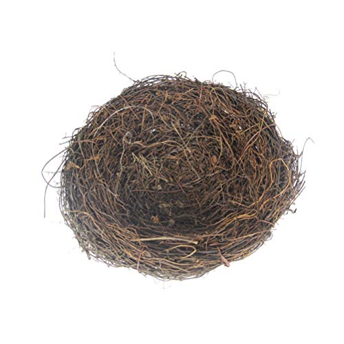 BESTOYARD Country Style Simulation Twig Bird Nest Handmade Easter Rattan Nest Creative Decoration for Home Garden (15cm)