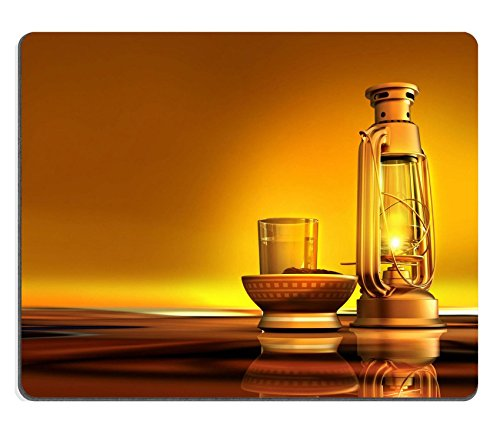 Price comparison product image MSD Mouse Pad Natural Rubber Mousepad Mousepad IMAGE ID: 14324154 3D render of a lantern dates and water