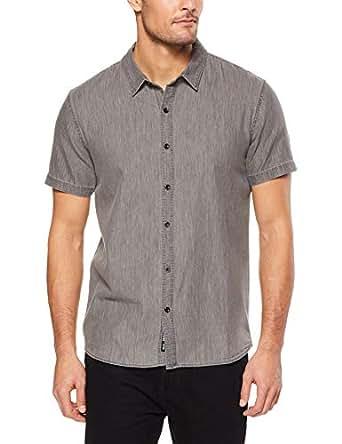 Mossimo Men's Acacia SS Shirt, Black(Black), XS(X-Small)