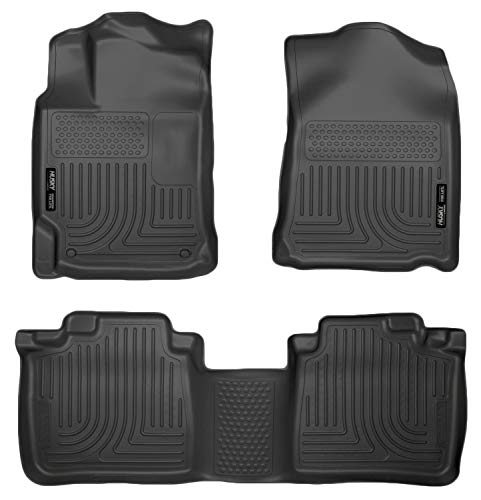 Husky Liners Fits 2010-15 Lexus RX350/RX450h Weatherbeater Front & 2nd Seat Floor Mats,Black,99551