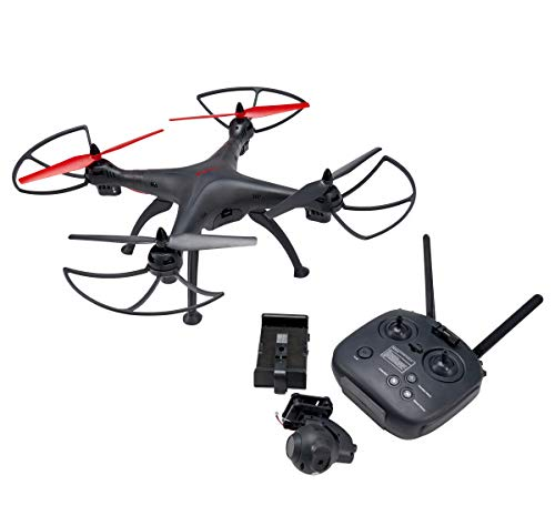 Vivitar DRC-446 Quadcopter Video Drone, Aero View Drone, Full HD Camera with Live Video Feed Over WiFi, 1000 Ft. Range, 12 Minute Flight Time,2 .4 Ghz Remote Control System & WiFi App Control
