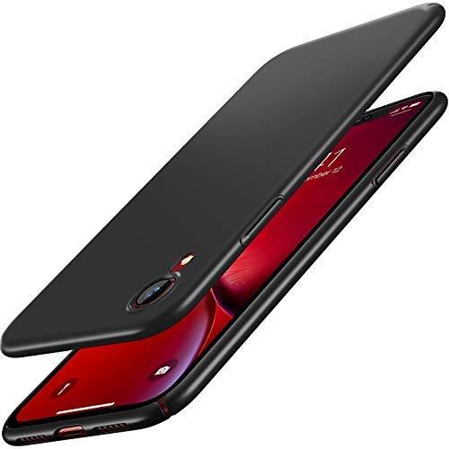 RANVOO iPhone XR Case, Ultra Thin Slim Fit Hard Plastic Basic Phone Cover Matte Finish Anti-Scratch Anti-Fingerprint Case for Apple iPhone XR 6.1 inch (2018), Black