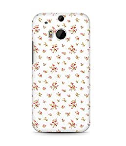 Indie Roses Vintage Floral Pattern Flowers Shabby Boho Cute Hard Plastic Snap On Back Case Cover For Htc One M8 Carcasa
